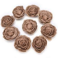 burlap flowers burlap flowers embellishments fabric flowers weddings party