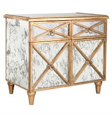 Mirrored Bar Cabinet Ritz Regency Antique Mirror Gold Crosshatch Bar Cabinet