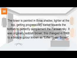 what color was the eiffel tower originally youtube