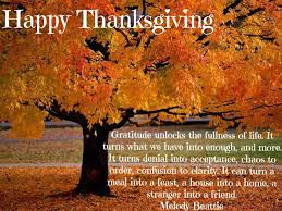 thanksgiving blessings to you and yours in the
