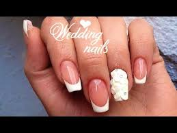 he made her dream of long wedding nails come true 3d bridal nail
