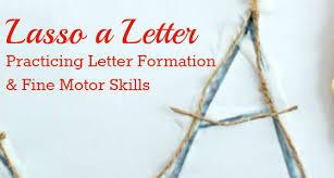 lasso a letter cowboy fine motor activity pre k pages
