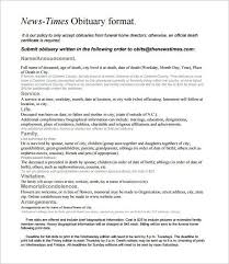 obituary example 25 obituary templates and samples template lab