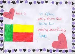 Benin Flag Benin Schools U0027 International Peace Quilt