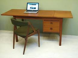 stunning vintage retro danish teak mid century desk photo 1 table