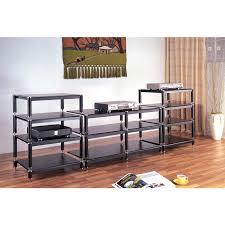 Bello Furniture Tv Stands Amp Audio Racks At Dynamic Home Decor Vti Bl404 13 Bl Series 4 Shelf Extra Tall Modular U0026 Expandable