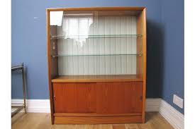 Vintage Bookcase With Glass Doors Bookcase Antique Bookcase With Sliding Glass Doors Mid Century