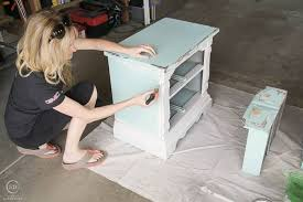 painted grey bedside table for the master bedroom