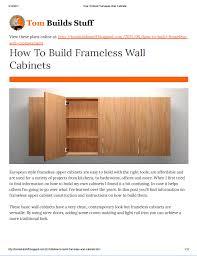 Building Frameless Kitchen Cabinets Howtobuildframelesswallcabinets Jpg