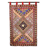 handcrafted cotton applique wall hanging from india