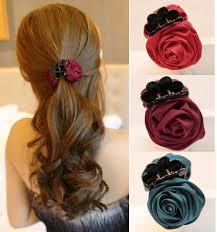 jaw clip 1 pcs korean beauty ribbon flower bow jaw hair clip barrette