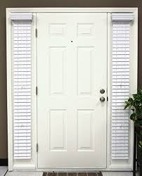 Blinds For Front Door Windows Amazon Com Faux Wood Sidelight Blinds For Doors 8 5