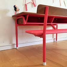 bureau enfant retro phile le pupitre d écolier vintage 2 places rénové bureau