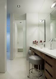 Vanity Bathroom Mirrors Double Sink Vanity With Makeup Area Powder Room Contemporary With