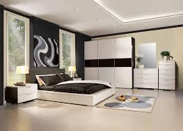 bedroom casual interior design with grey comforter in platform