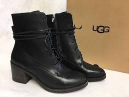 s heeled boots australia ugg australia oriana black lace up leather ankle boots 1018646
