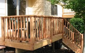 Backyard Wood Deck Wood Deck Railings Crafts Home