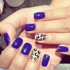 nails with shellac gel color cheetah design nails by vicky