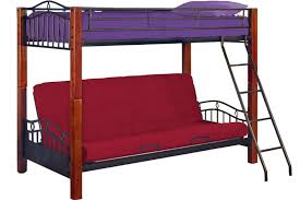 Metal Futon Bunk Bed Lancelot Wood And Metal Bunk The Futon Shop - Futon bunk bed