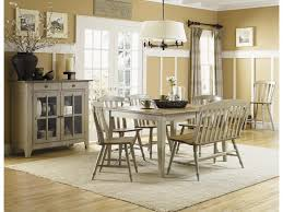 liberty furniture al fresco driftwood and taupe dinette depot shown with dining table bench side chairs