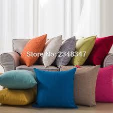 jet de canap coton solide couleur taie d oreiller linge de coton de jet décoratif