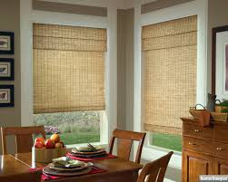interior window treatments for bay window home depot roman
