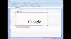 web browser control in microsoft excel 2007 vba youtube