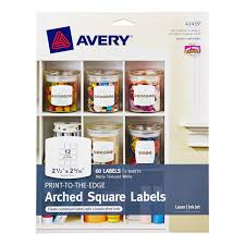 Printable Labels Arched Square Avery Printable Label Sheets The Container Store