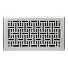 Floorregisters N Vents by Shop Accord Wicker Satin Nickel Steel Floor Register Rough