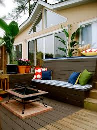 Patio Cushion Storage Bin by Deck Storage Bench Ideas Diy