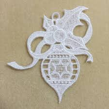 ornament embroidered free standing lace ornament needlework and craft