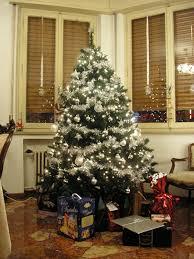 christmas tree decoration u2013 white and silver as christmas tree