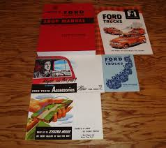 1952 ford f series truck shop manual owners sales brochure 5 piece