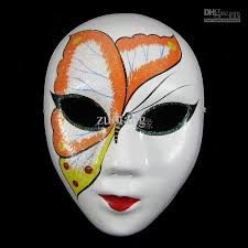 mask decorations white butterfly masquerade masks adults women paper pulp