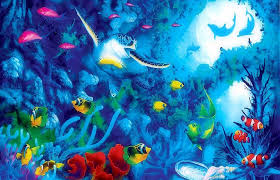 downloaded tag wallpapers fishy colorful paintings turtles