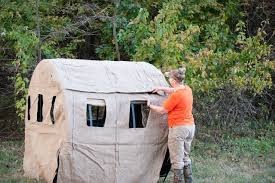How To Make A Hay Bail Blind How To Ground Blinds For Beginners