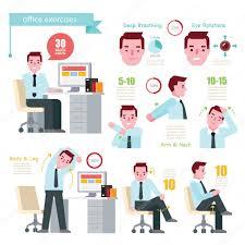 exercice au bureau exercice de l homme au bureau image vectorielle whanwhan ai