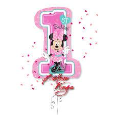 minnie mouse 1st birthday 1st birthday minnie mouse shape balloon