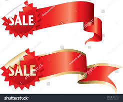 ribbon on sale sale sticker flashes ribbon banners stock vector 38041591