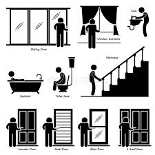 pictogramme chambre montages d intérieur de chambre à la maison illustration de vecteur