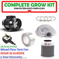 carbon filter fan for grow room 4 in line fan carbon filter duct kit hydroponic grow room tent