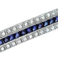 diamond bracelet with sapphire images Pushkin antiques antique 20thc art deco platinum sapphire jpg