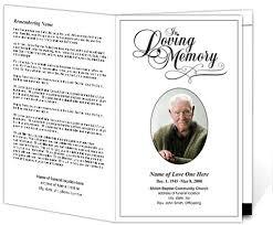 memorial program templates sle obituary funeral program templates 292628 template best