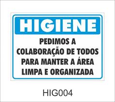 Basta Higiene - Pedimos a colaboração de todos para manter a área limpa  &OV67