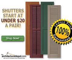Spray Paint Vinyl Shutters - how to bring the color back to vinyl shutters vinyl shutters