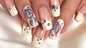 dream catcher french manicure nail art tutorial youtube