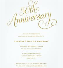 25th wedding anniversary invitations 50th anniversary invitation template 21 wedding anniversary
