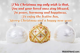 this my only wish is merry message