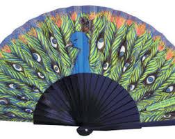 peacock fan peacock fan etsy