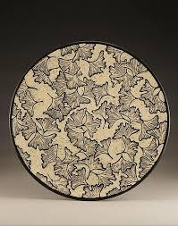 ceramic platter ginkgo platter by falter ceramic platter artful home